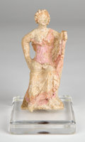 Antiquities:Greek, Antiquities: GREEK. Terracotta 'Tanagra figurine,' circa 300 BC.... (Total: 2 items)