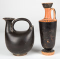 Antiquities:Greek, Antiquities: GREEK SOUTHERN ITALY. Apulia and Campania. Ca. 350-275BC. Group of two blackware vessels. ... (Total: 2 items)