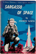 Books:Signed Editions, Andrew North [pseudonym of Andre Norton]. Sargasso of Space.New York: Gnome Press, [1955]. First edition, Currey bi...