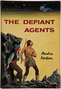 Books:Signed Editions, Andre Norton. The Defiant Agents. Cleveland: World Publishing, [1962]. First edition. Inscribed by the author to J...