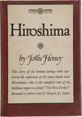 Books:Literature 1900-up, John Hersey. Hiroshima. New York: Alfred A. Knopf, 1946. Firstedition. Octavo. 118 pages. Publisher's green cloth with gilt...