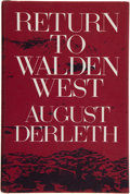 Books:Americana & American History, August Derleth. Return to Walden West. Wood-engravings byFrank Utpatel. New York: The Candlelight Press, [1970]...