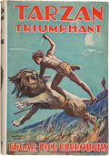 Books:Science Fiction & Fantasy, Edgar Rice Burroughs. Tarzan the Triumphant. London: John Lane the Bodley Head Ltd., [1934]. First British editi...