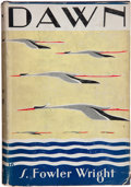 Books:First Editions, S. Fowler Wright. Dawn. New York: Cosmopolitan BookCorporation, 1929. First edition. Octavo. 349 pages. Blue cloth ...