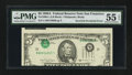 Error Notes:Inverted Third Printings, Fr. 1980-L $5 1988A Federal Reserve Note. PMG About Uncirculated 55 EPQ.. ...