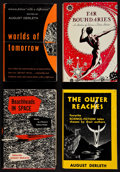 Books:Science Fiction & Fantasy, August Derleth, editor. Four Anthologies, including: Far Boundaries; The Outer Reaches; Beachhea... (Total: 4 Items)