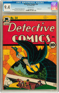 Golden Age (1938-1955):Superhero, Detective Comics #54 Rockford pedigree (DC, 1941) CGC NM 9.4 Off-white pages....