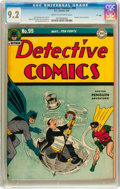 "Golden Age (1938-1955):Superhero, Detective Comics #99 ""D"" Copy pedigree (DC, 1945) CGC NM- 9.2 Cream to off-white pages...."