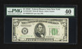Small Size:Federal Reserve Notes, Fr. 1959-B* $5 1934C Wide Federal Reserve Star Note. PMG Extremely Fine 40.. ...