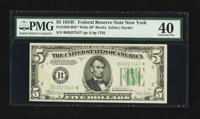 Fr. 1959-B* $5 1934C Wide Federal Reserve Star Note. PMG Extremely Fine 40