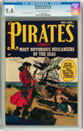 Pirates Comics #2 Vancouver pedigree (Hillman Publications, 1950) CGC NM 9.4 Off-white to white pages