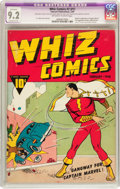 Golden Age (1938-1955):Superhero, Whiz Comics #2 (#1) (Fawcett, 1940) CGC Apparent NM- 9.2 Extensive (P) Off-white to white pages....