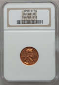 Lincoln Cents, 1998-D 1C MS68 Red NGC. NGC Census: (23/0). PCGS Population (51/0).Numismedia Wsl. Price for problem free NGC/PCGS coin i...