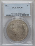 Peace Dollars: , 1922 $1 Poor 1 PCGS. PCGS Population (7/101074). NGC Census:(0/151967). Mintage: 51,737,000. Numismedia Wsl. Price for pro...