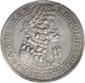 Austria: Leopold the Hogmouth Taler 1701 Hall, KM644.4, Davenport 1003, choice lightly toned XF-AU, very attractive. Fro...