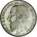 Belgian Congo: , Belgian Congo: Leopold II 2 Francs 1887, KM7, choice lightly tonedUNC, a very pleasing example.. From the Louis E. Eliasberg, Sr.Collec...