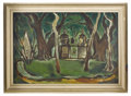 Fine Art - Painting, European:Contemporary   (1950 to present)  , VICTOR LAKS (French, b. 1924). Green Forest. Oil on canvas.43-1/2in. x 59-1/2in.. Signed at lower left V. Laks, 50...(Total: 1 Item)