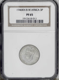 British West Africa: , British West Africa: George VI 3 Pence 1946KN, KM21, Proof 65NGC....