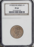 British West Africa: , British West Africa: George VI Shilling 1951KN, KM28, Proof 64 NGC, fully brilliant....