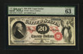 Large Size:Legal Tender Notes, Fr. 129 $20 1878 Legal Tender PMG Choice Uncirculated 63 EPQ.. ...