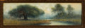 Works on Paper, ALEXANDER JOHN DRYSDALE (American, 1870-1934). Louisiana Bayou, 1916. Watercolor and gouache on board . 6 x 20 inches (1...