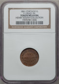 Civil War Merchants, 1861 F.E. Rigby, Wall Papers, Chicago, IL MS64 Brown NGC.Fuld-150AZ-3a. Ex: Henry South Collection....