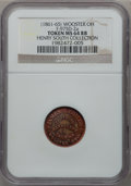 Civil War Merchants, James B. Childs, Wooster, OH, MS64 Red and Brown NGC. Fuld-975D-2a.Ex: Henry South Collection....