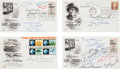 Autographs, Journalism Notables Signed First Day Covers. ...