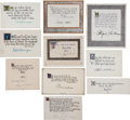 Autographs, Ten Quotations Signed by Distinguished Figures. ...