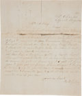 Autographs:Statesmen, [Counterfeit Currency] Robert King Autograph Letter Signed....