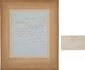 "Autographs:Statesmen, William Seward Clipped Signature ""William H. Seward"" [and]Daniel Webster Autograph Letter Signed ""Daniel Webs... (Total: 2Items)"