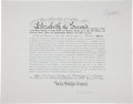 Autographs:Non-American, Elizabeth II Document Signed...