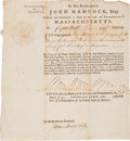 Military & Patriotic:Revolutionary War, [John Hancock] John Avery Signed Appointment Document....
