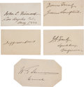 Autographs:Military Figures, Civil War Signatures (5):... (Total: 5 Items)