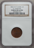 Civil War Merchants, 1863 G. Parsons, Fireworks, New York, NY, MS64 Brown NGC.Fuld-630BE-2a....