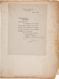 Autographs:Military Figures, John Pershing Typed Letter Signed.... (Total: 2 Items)