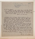 Autographs:Celebrities, Will Rogers Typed Letter Signed....