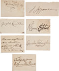 Autographs:Celebrities, Seven Signatures of Actors and Actresses... (Total: 7 Items)