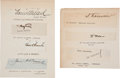 Autographs:Celebrities, Seven 19th Century Signatures... (Total: 7 Items)