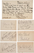Autographs:Authors, Seven Signatures of Musicians... (Total: 7 Items)