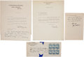 Autographs:Military Figures, Richard Byrd Typed Letters (2) Signed... (Total: 3 Items)