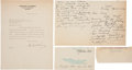Autographs:U.S. Presidents, Herbert Hoover Typed Letter Signed.... (Total: 4 Items)