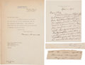 Autographs:U.S. Presidents, Theodore Roosevelt Signature... (Total: 5 Items)