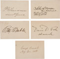 Autographs:Military Figures, Five Civil War Signatures,... (Total: 5 Items)