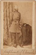 Photography:Cabinet Photos, Lt. Colonel Julius Garesché, Decapitated by a Cannon Ball at theBattle of Stones River, Cabinet Card Signed by His Son. ...