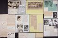 Baseball Collectibles:Others, Baseball Greats Signed Index Cards Lot of 21....