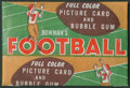 Football Cards:Boxes & Cases, 1954 Bowman Football 1-Cent Wax Pack. ...