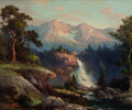 Paintings, ROBERT WILLIAM WOOD (American, 1889-1979). Western Mountain Landscape, 1942. Oil on canvas. 25 x 30 inches (63.5 x 76.2 ...