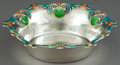 Silver Holloware, American:Bowls, A SHIEBLER SILVER AND ENAMEL BOWL . George W. Shiebler & Co.,New York, New York, circa 1900. Marks: (winged S) STERLING,...