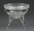 Silver Holloware, American:Bowls, A TIFFANY & CO. GLASS BOWL WITH SILVER STAND . Tiffany &Co., New York, New York, circa 1900 . Marks: TIFFANY & CO.,STERL...